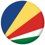 Seychelles Country Flag 25mm Keyring